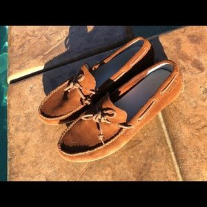 Brown Suede Cole Haan Driving Shoe - Size 10.5